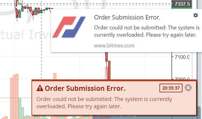 BitMEX系统过载