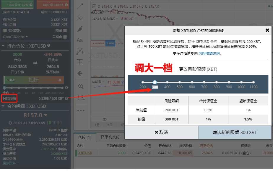 BitMEX风险限额调节方法